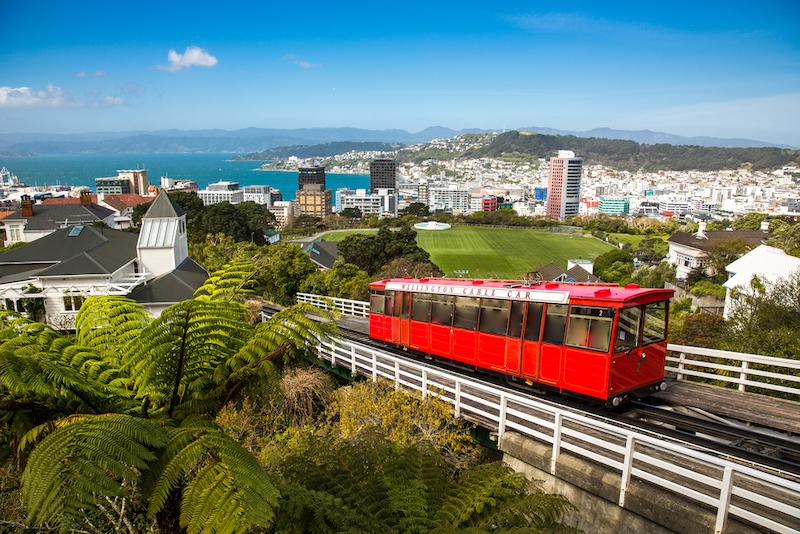 ニュージーランドの首都ウェリントンの景色