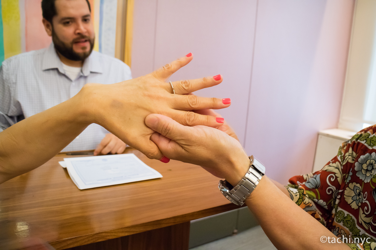 ニューヨークシティ・クラーク(市役所の市書記事務局)結婚式