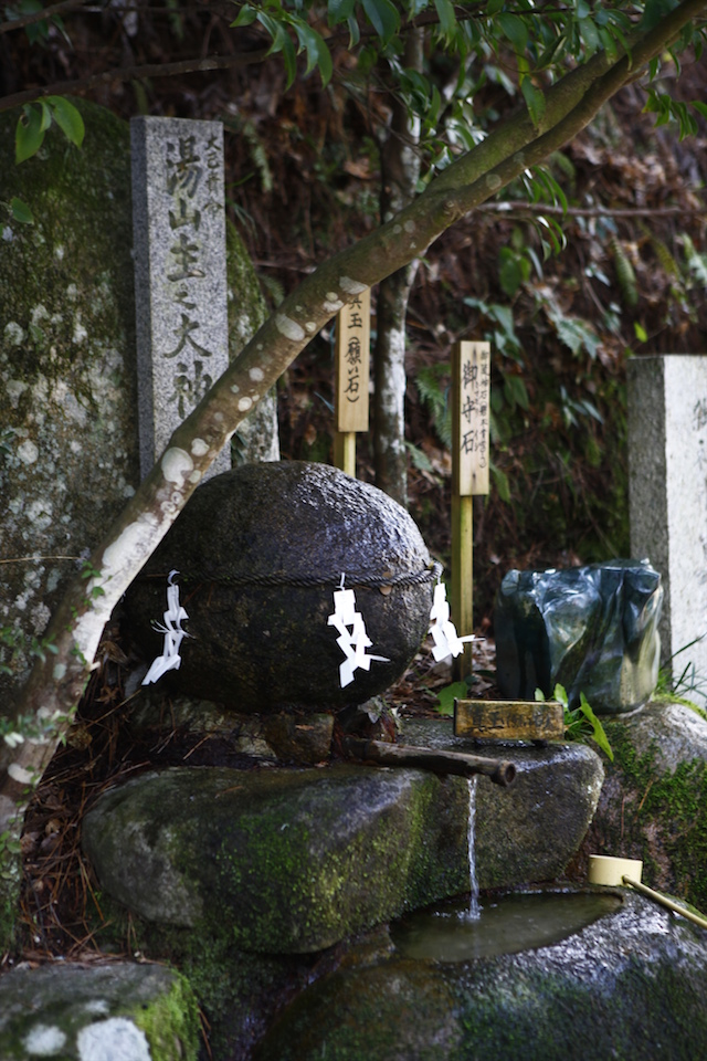 玉作湯神社 願い石