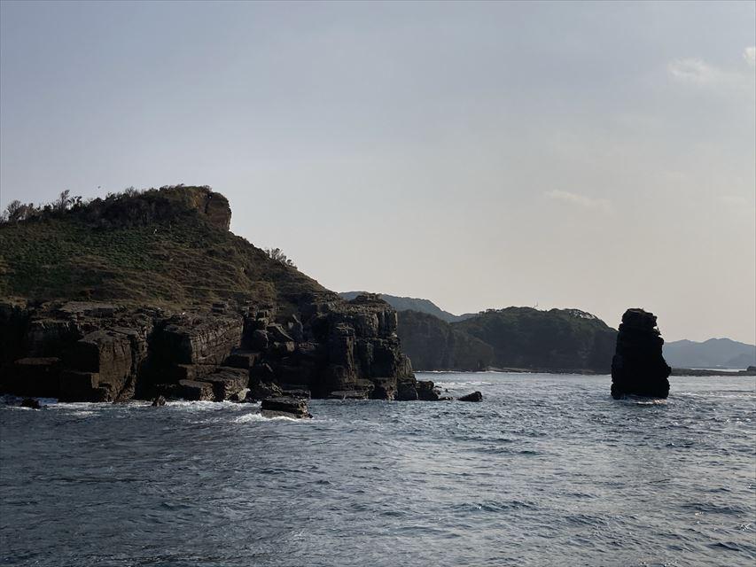 辰の島クルーズ 目出柱