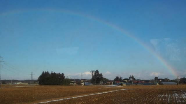 ふたたび車窓の虹