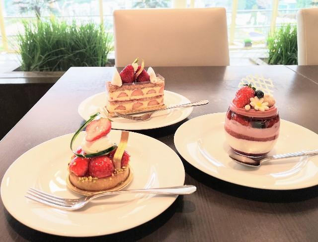 千葉県・シェラトン・グランデ・トーキョーベイ・ホテル内「カフェ トスティーナ」1月限定3種の苺スイーツ