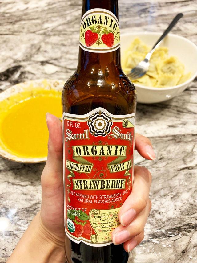 オーガニックストロベリーのビール