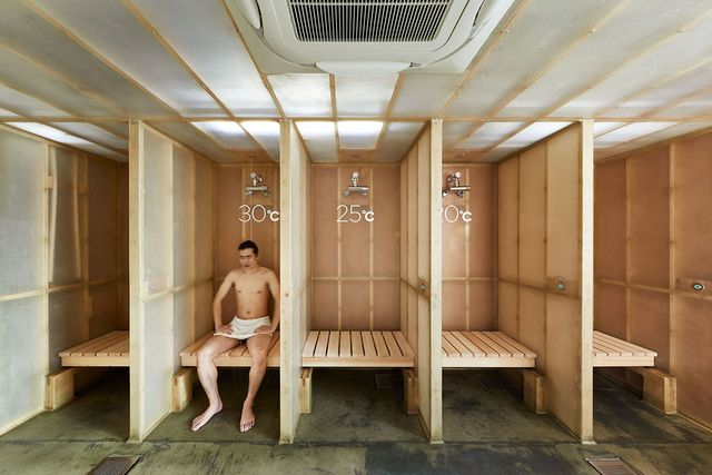 ドシー(℃)では水風呂(シャワー)の温度が選べる