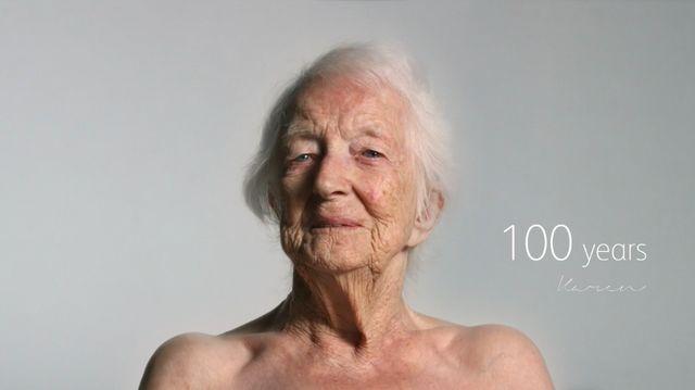 100歳の女性 ヌード ノルウェーのCM