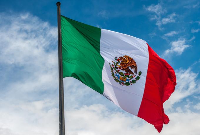南米メキシコの国旗