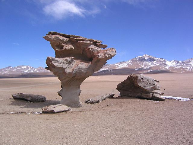 ウユニ塩湖の奇岩