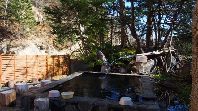 日光澤温泉の露天