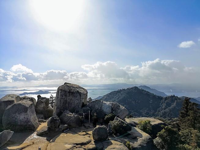 宮島弥山展望台からの眺め
