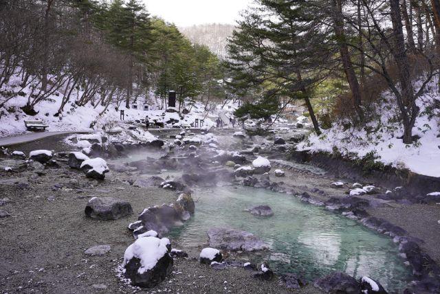 群馬県草津温泉西の河原公園
